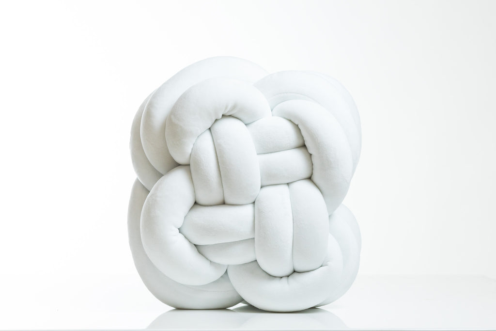 Globular Knot Pillow (White)- Hayden Collection
