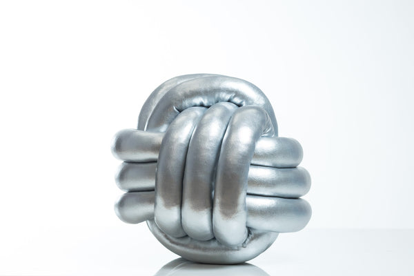 Knot Pillow (Silver)- Hayden Collection