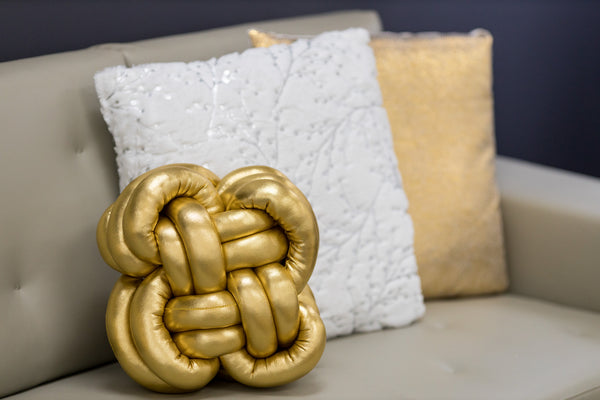 Globular Knot Cushion Gold- Hayden Collection