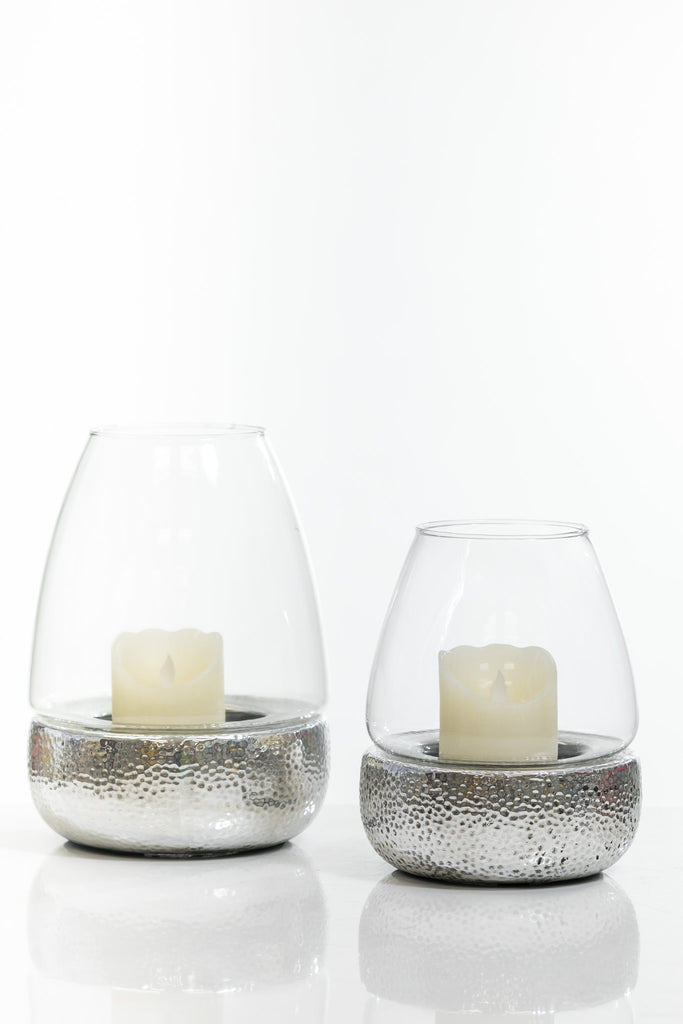 "9"" Round Candleholder- Metalle Collection"