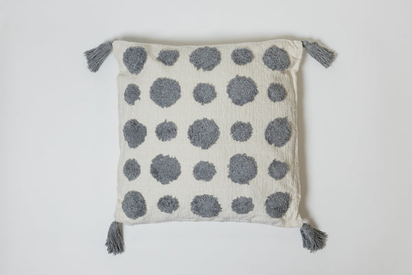 Dots Gray Pillow - Brodé Collection