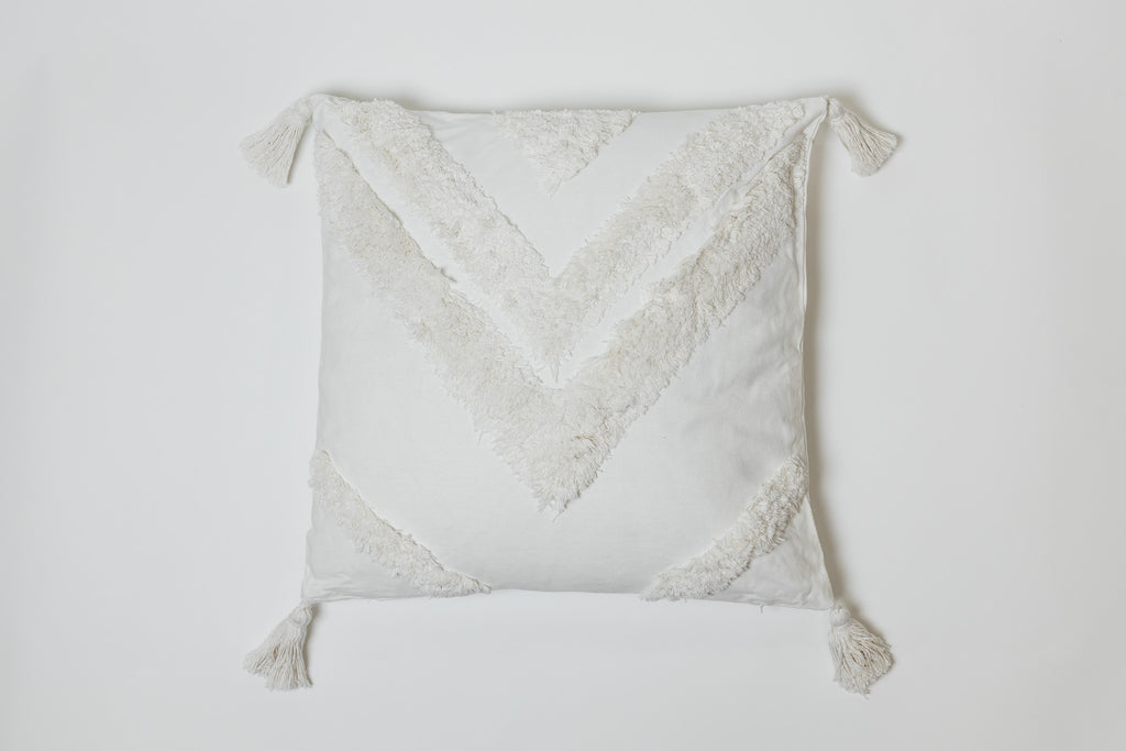 Triangle Cream Pillow - Brodé Collection