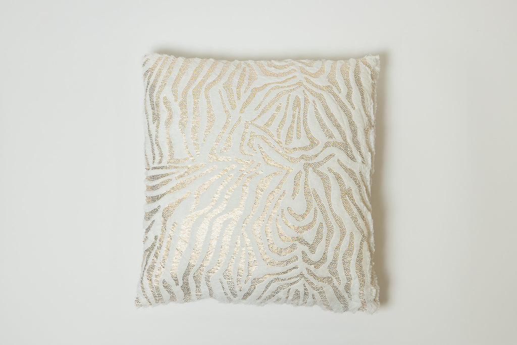 Zebra Gold Pillow - Modéle Collection