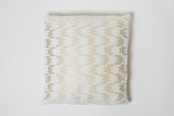 Rain White/Gold Pillow - Modéle Collection