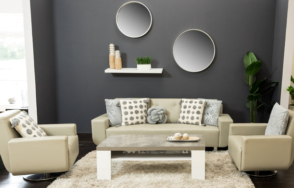 "16"" Silver Round Mirror - Metalle Collection"