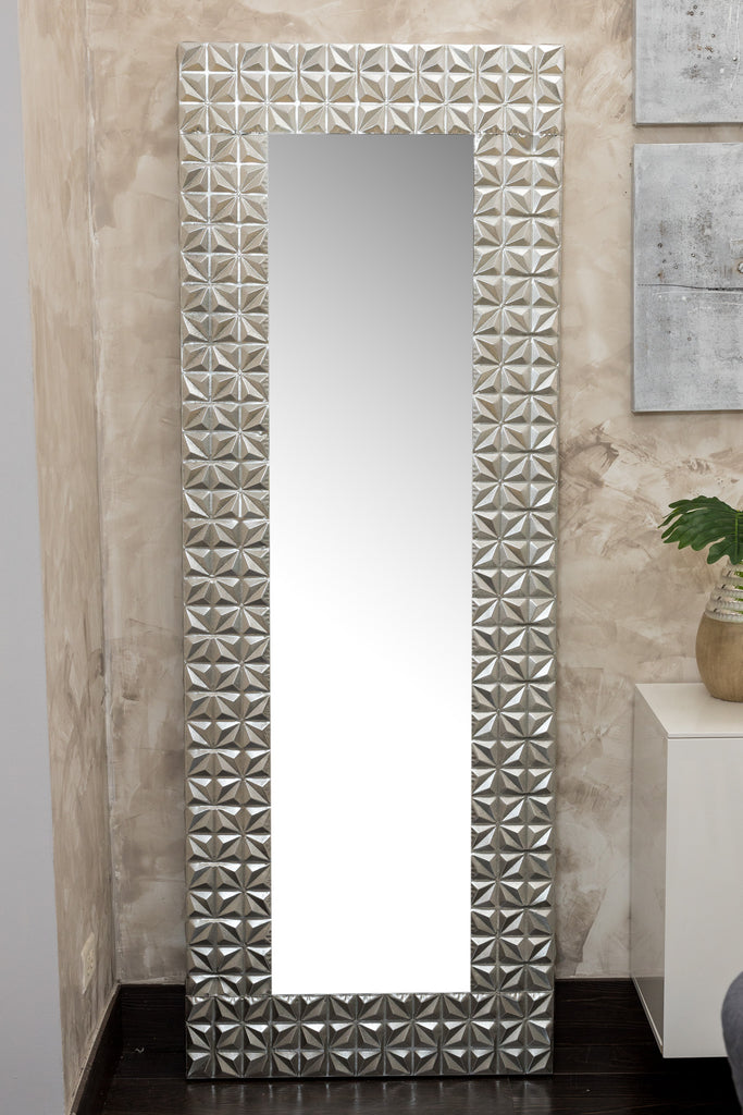 "78"" Silver Lily Mirror - Metalle Collection"