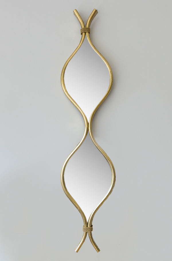 "28"" Gold Curvy Mirror - Metalle Collection"