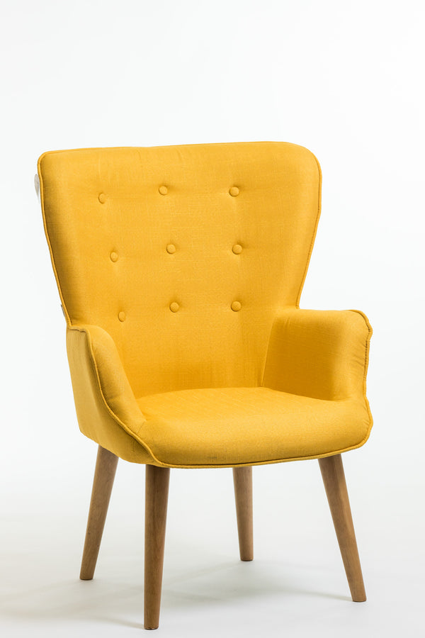 Julie Armchair- Dijon Yellow
