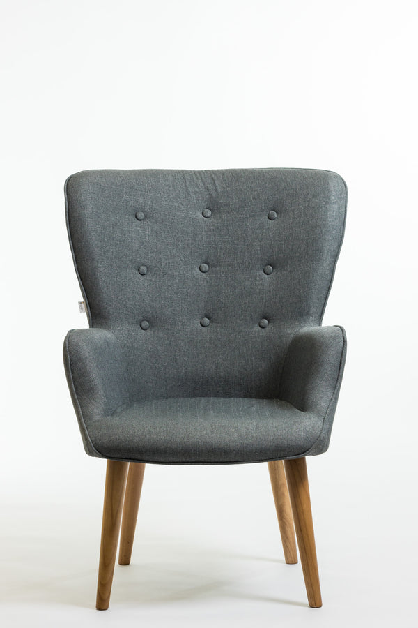 Julie Armchair- Charcoal Gray