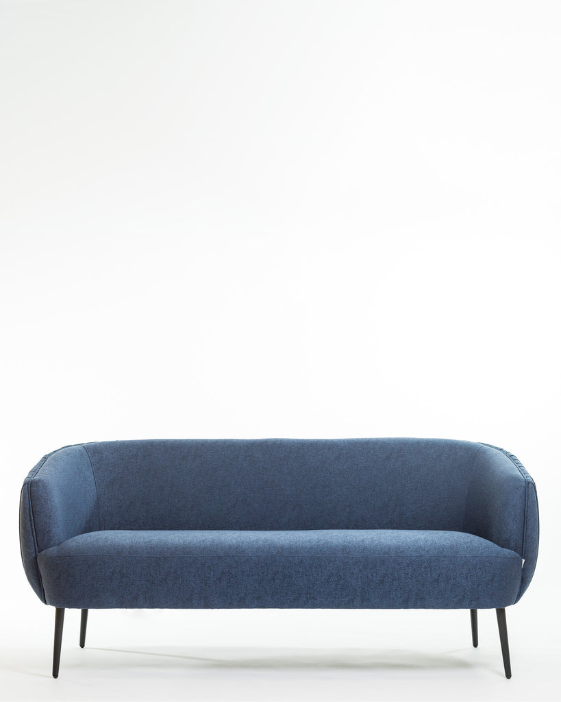 Hope Sofa & 2 Armchair Set- Navy Blue