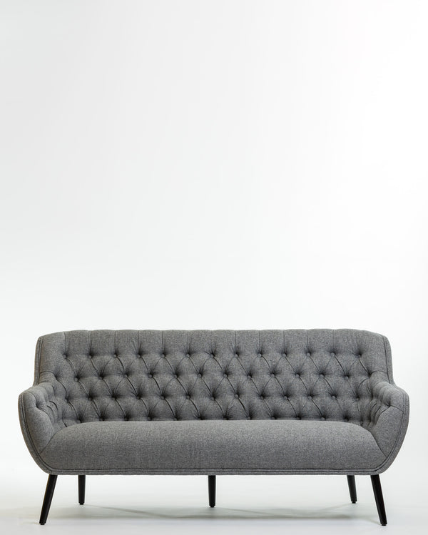 Hannah Three Seat Sofa - Smoke Gray