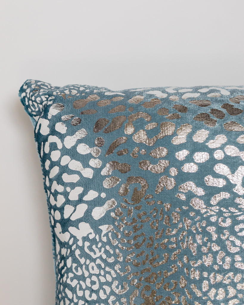 "18"" x 18"" Modello Pillow - Blue/Silver"