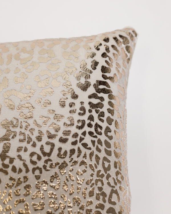 "18"" x 18"" Modello Pillow - Cream/Gold"