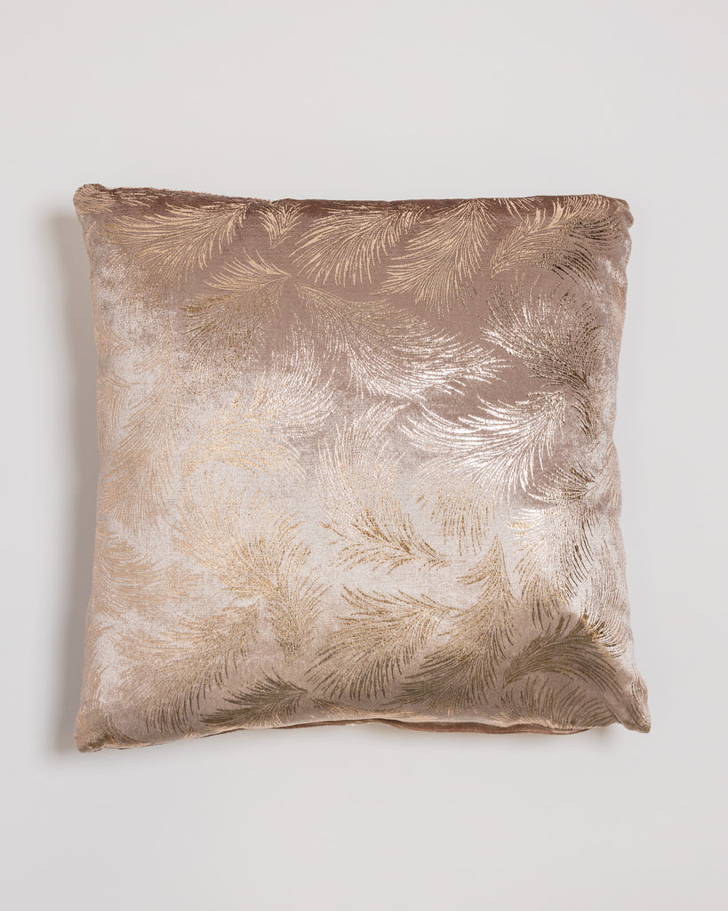 "18"" x18"" Delicat Pillow- Dark Cream/Gold"