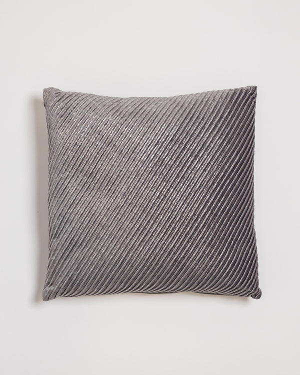 "18"" x 18"" Brille Pillow - Gray/Silver"