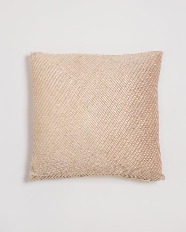 "18"" x 18"" Brille Pillow - Cream/Gold"