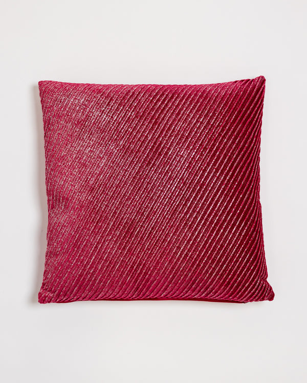 "18"" x 18"" Brille Pillow - Red/Silver"