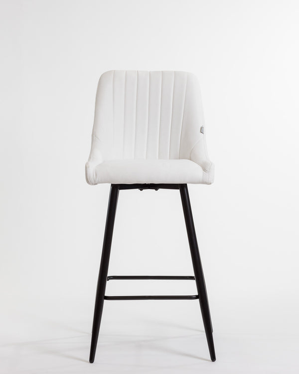 Gracie Bar Stool Chair - White