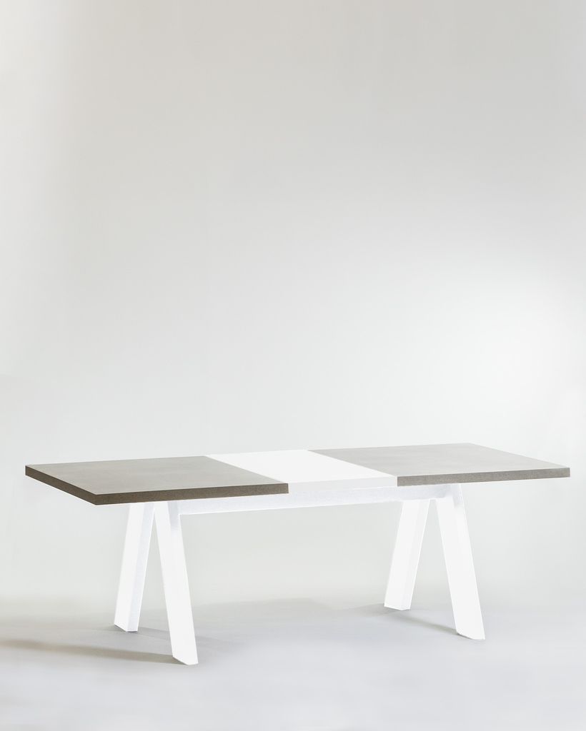 "87"" Lore Dining Table-White"