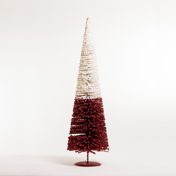 "32"" Chic Xmas Tree White/Red - Metallic Collection"