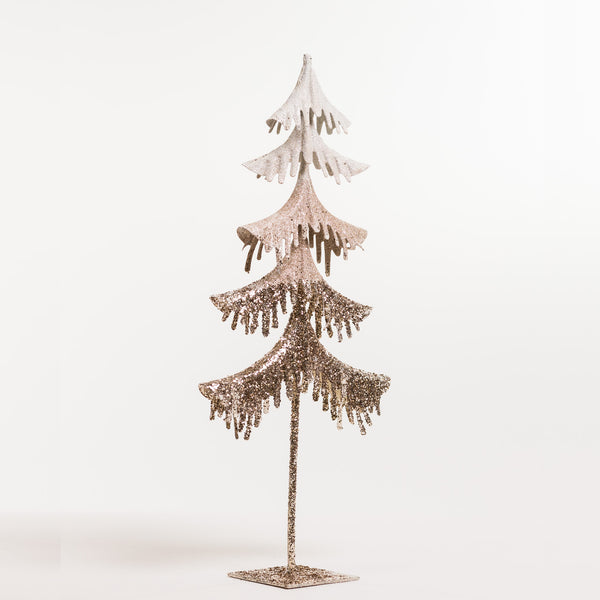 "18"" Christmas Tree White/Champagne - Metallic Collection"