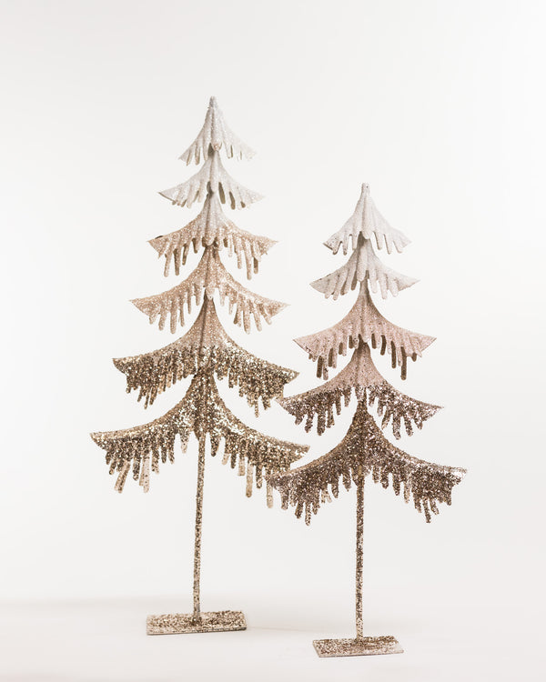 "21"" Christmas Tree White/Champagne - Metallic Collection"