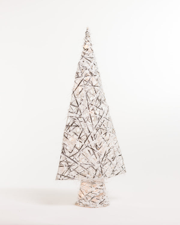 "24"" Silver Tree w/Light - Boho Chic Collection"