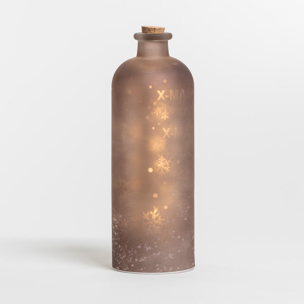 "12"" Brown Glass Case Xmas Projection - Felicitá Collection"