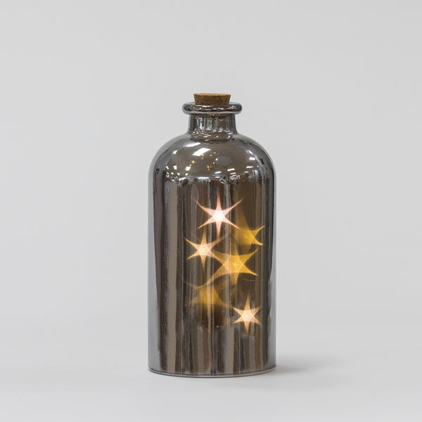 "9"" Mercury Bottle w/5 rolling star - Felicitá Collection"