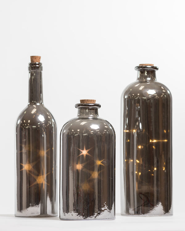 "13"" Mercury Bottle w/4 rolling star - Felicitá Collection"
