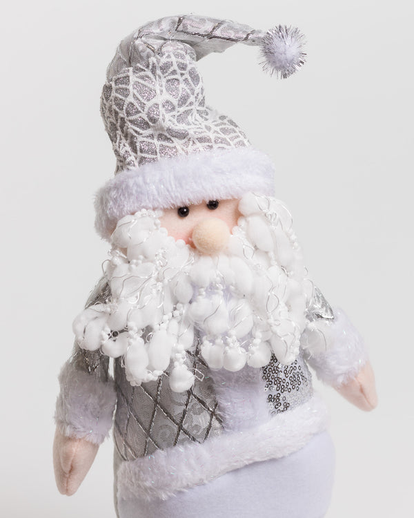"21"" Silver Standing Santa - Metallic Collection"