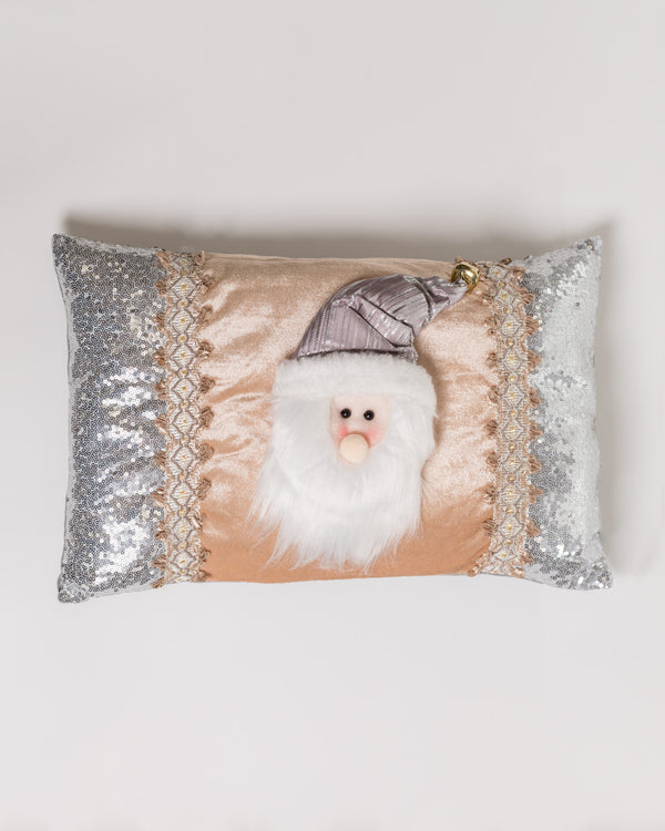 "17"" Santa Cushion Silver/Champagne - Metallic Collection"