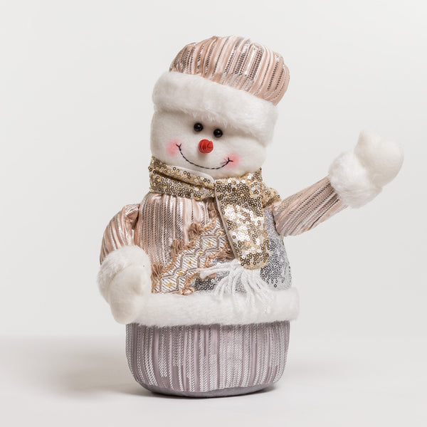 "12"" Snowman Silver/Champagne - Metallic Collection"