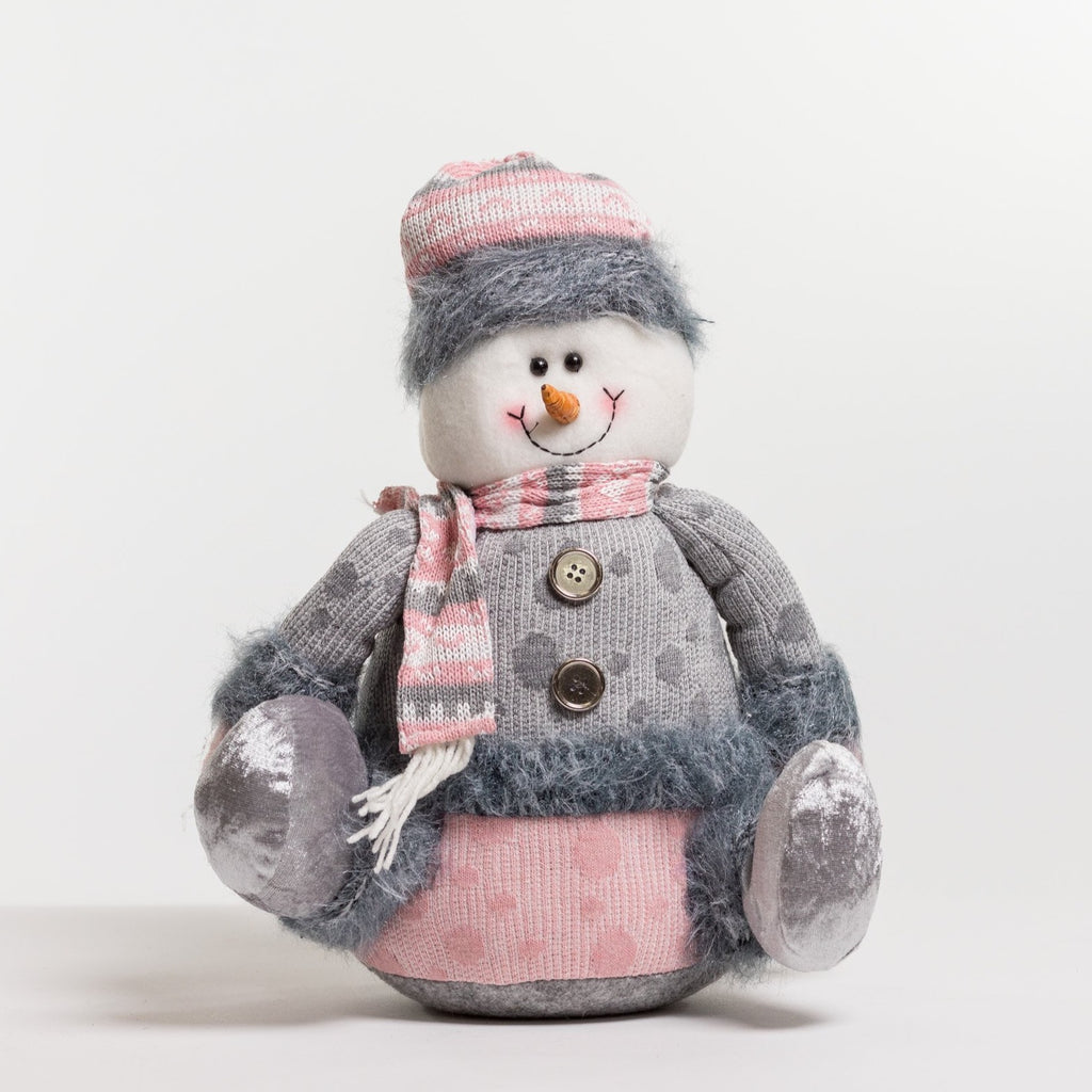 "14"" Sitting Snowman - Vogue Collection"