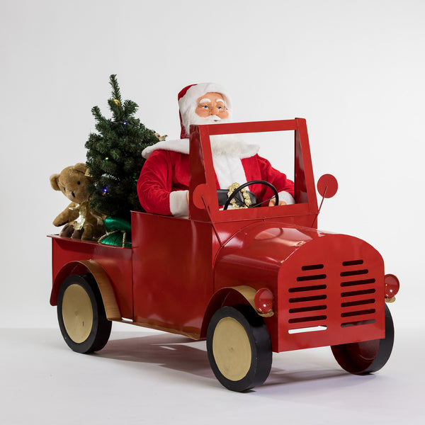 "60"" Singing Moving Santa on Car - Cheerful Collection"