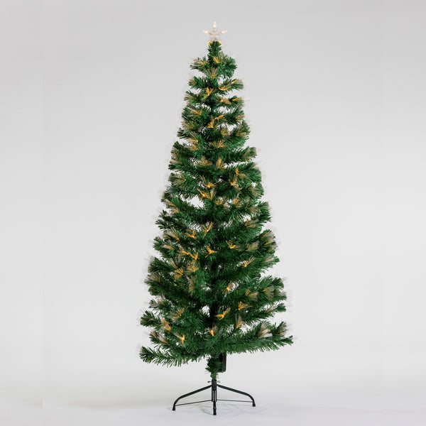6' Warm White Fiber Optic Tree- Bluetooth speaker included
