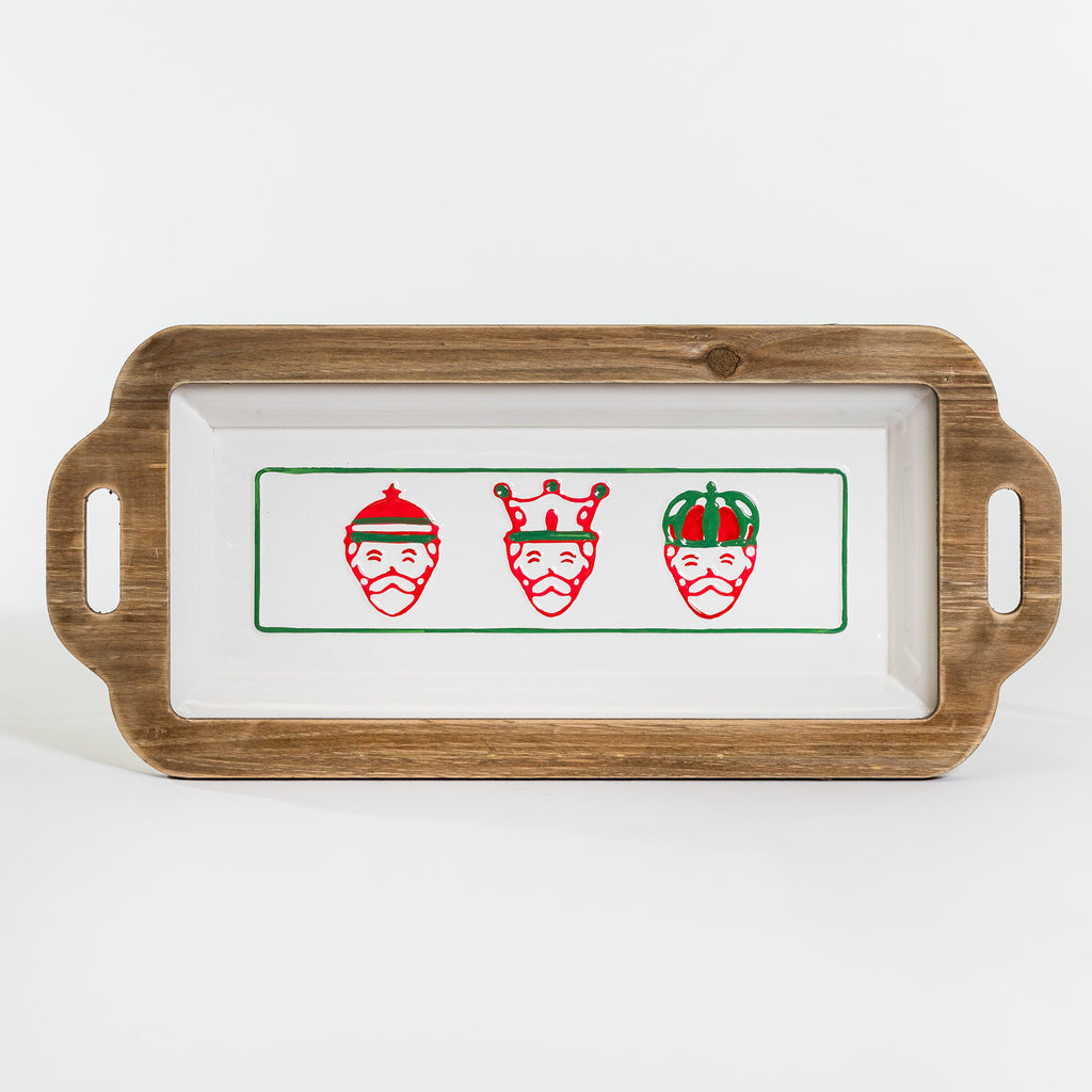 Three Kings Wood & Metal Tray - Natal Collection