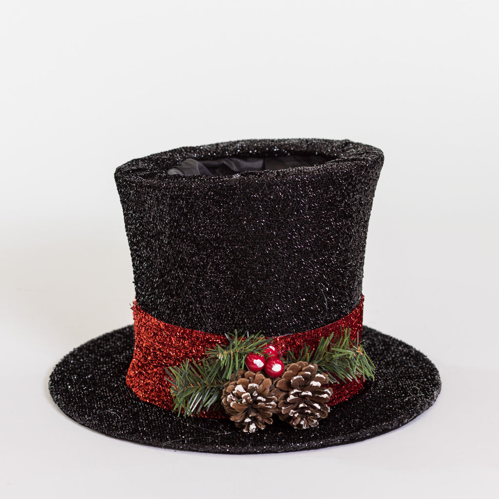 Black Snowman Hat Décor