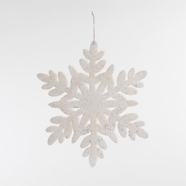 "15"" White Glitter Snowflake - Metallic Collection"