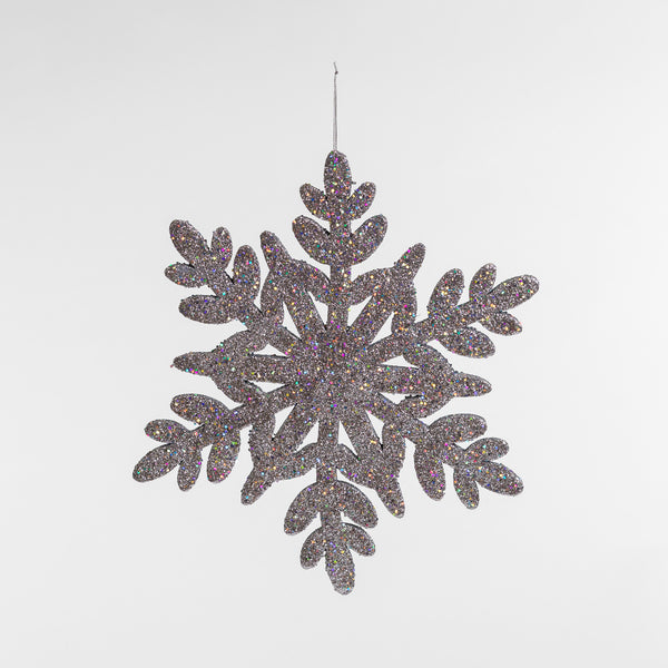 "15"" Silver Glitter Snowflake - Metallic Collection"