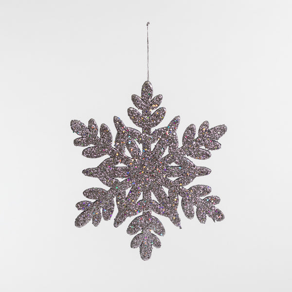 "12"" Silver Glitter Snowflake - Metallic Collection"