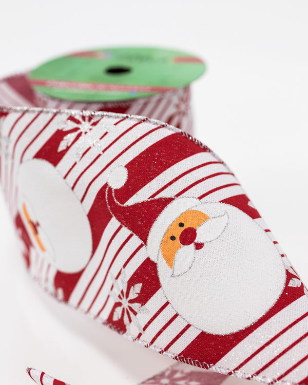 "5"" Red/White Santa Ribbon"
