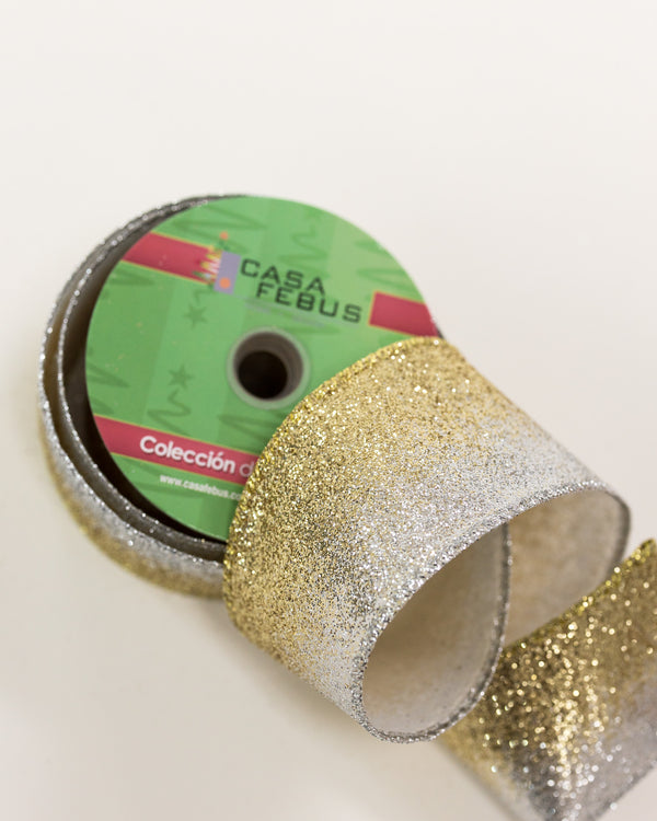 "2.5"" Gold/Silver Gradient Ribbon"