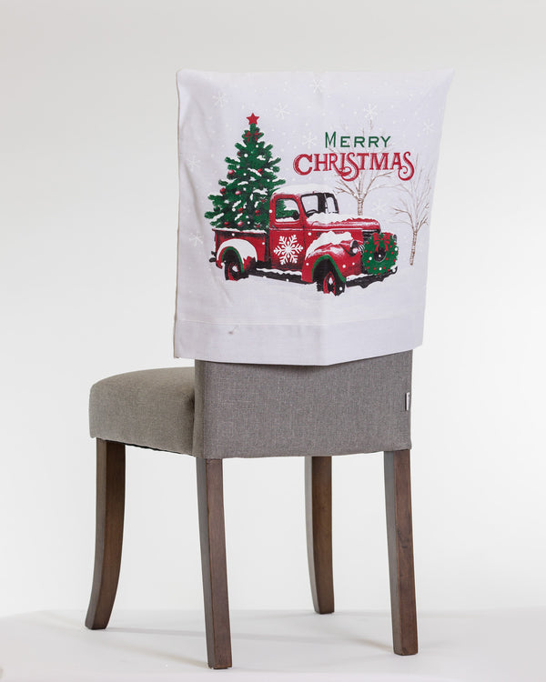 "20"" x 20"" Vintage Truck Chair Cover - Noël Collection"