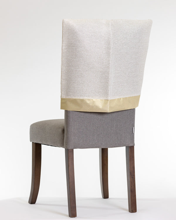 "20"" x 20"" Cream/Gold Chair Cover - Metallic Collection"