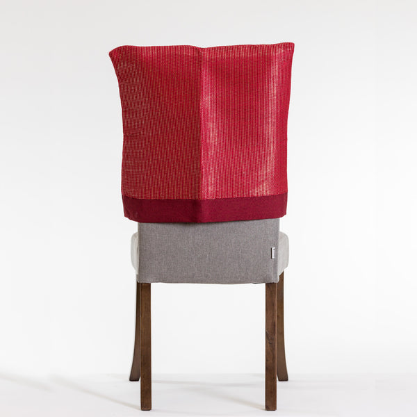 "20"" x 20"" Metallic Red Chair Cover - Metallic Collection"