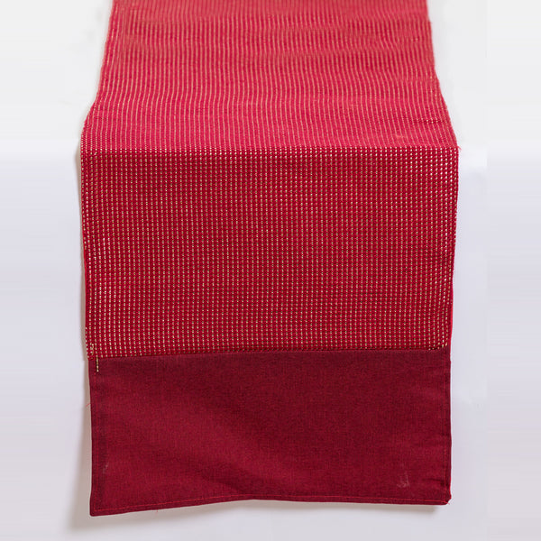 "13"" x 72"" Metallic Red Table Runner - Metallic Collection"