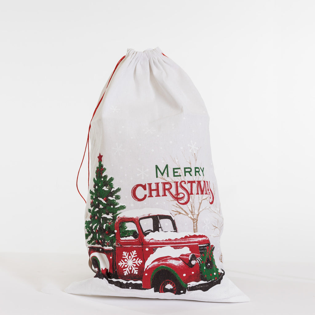 "18"" x 29"" Vintage Truck Gift Bag - Noël Collection"