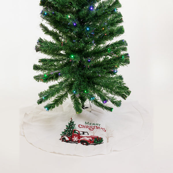 "48"" Vintage Truck Tree Skirt - Noël Collection"