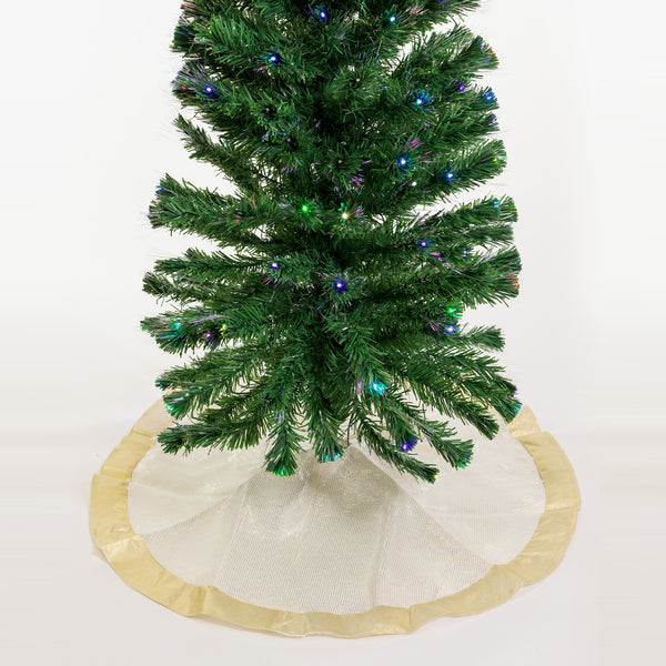 "48"" Cream/Gold Tree Skirt - Metallic Collection"